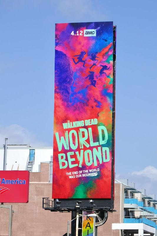 Walking Dead World Beyond series premiere billboard