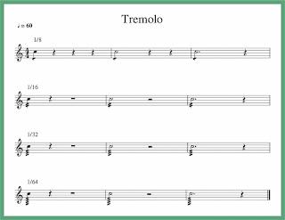 contoh tremolo dalam notasi balok
