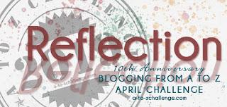 #AtoZChallenge 2019 Tenth Anniversary Reflections badge