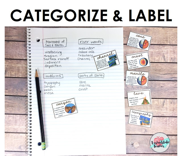 Looking for ideas that activate prior knowledge, help you integrate VOCABULARY ACTIVITIES into your science and content-area units, and assess your students before getting into your lessons? I've got three fun, engaging science vocabulary activities that are perfect for 3rd, 4th, 5th, and middle school students! Categorize, group, and label activity!