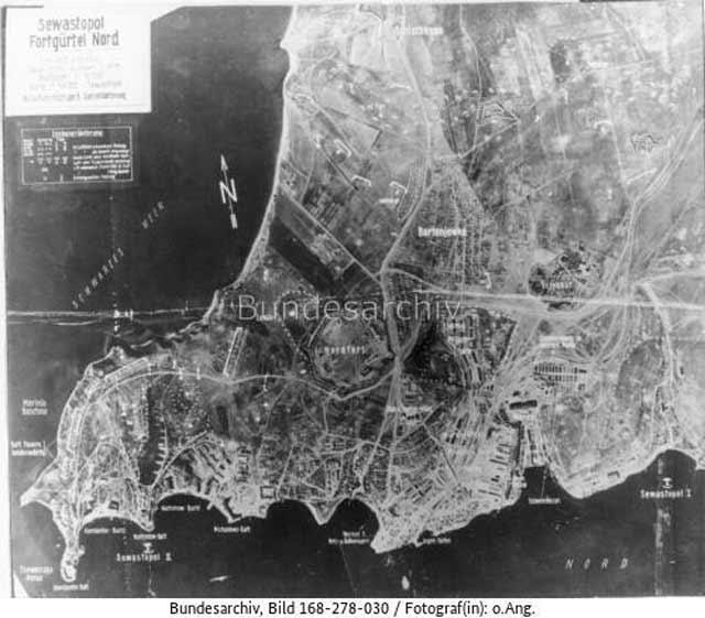 Sevastopol, Crimea, aerial photo, 8 April 1942 worldwartwo.filminspector.com