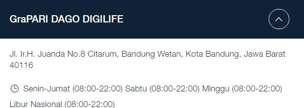 Alamat GraPARI Telkomsel Bandung: Jl. Ir.H. Juanda No.8