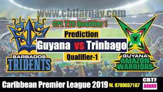 Today Match Prediction CPL 2019 Barbados vs Guyana Qualifier 1