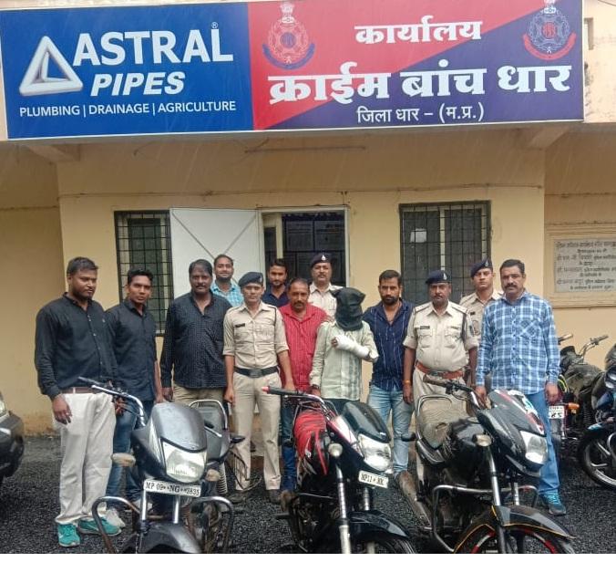 धार एसपी आदित्य प्रताप सिंह की टीम ने जामदा भूतिया के 30 के इनामी कुख्यात डकेत को पकड़ा