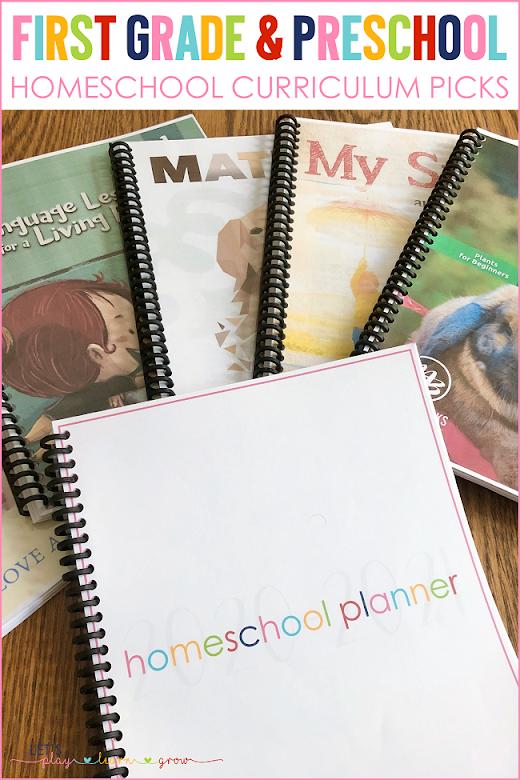 Homeschool Curriculum Choices for First Grade and Preschool