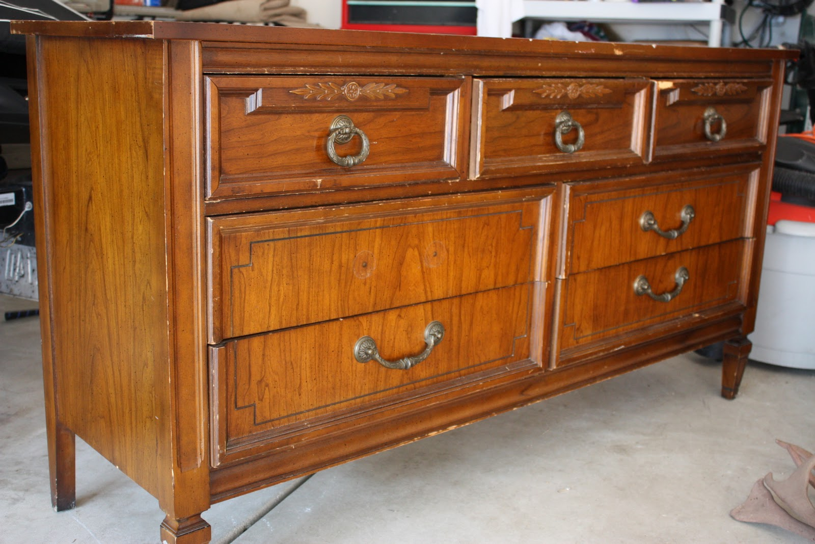The Yellow Cape Cod: 31 Days of Character Building: Thrift Store ... - Small Pieces Of Wooden Furniture