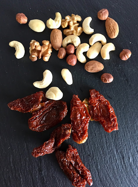 Rezept glutenfrei vegan Nüsse Knabber Mix Snack gesund naschen