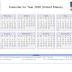 2020 CALENDAR UNITED STATES