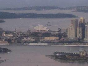 Sydney Australia Harbour From Airplane.