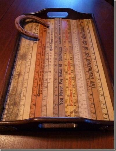 5. Nampan saji terbuat dari penggaris kayu (yardstick).