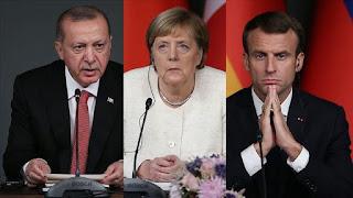 ميركل وماكرون طالبا بوتين باقرار وقف اطلاق نار صارم في إدلب