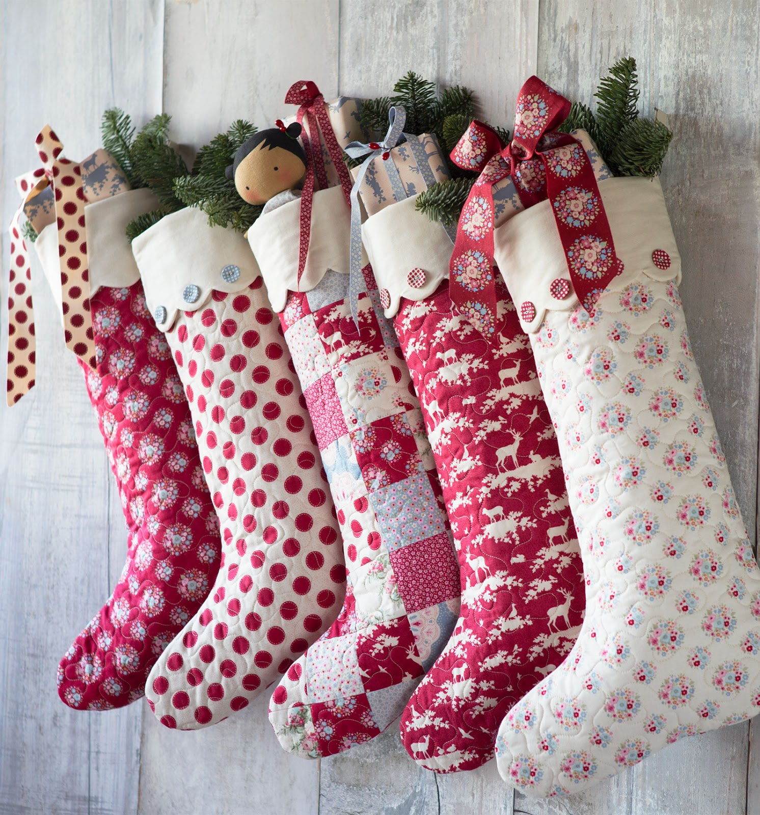 Quilt Inspiration: Free pattern day! Christmas stockings