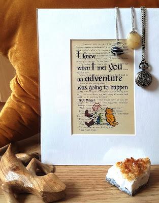 Print, Art, Literary, Winnie the Pooh, Bookish
