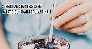 Sedotan Stainless Steel Dapat Digunakan Berulang Kali merupakan salah satu alasan penting mengapa kita harus gunakan sedotan non-plastik