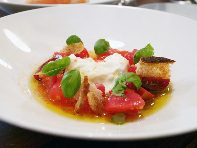 Cin Cin Brighton new season tomatoes and cheese