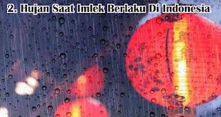 Hujan Saat Imlek Berlaku Di Indonesia merupakan salah satu fakta unik hujan saat imlek