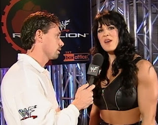 WWE / WWF Rebellion 1999 - Michael Cole interviews Chyna