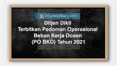 Ditjen Dikti Resmi Terbitkan Pedoman Operasional Beban Kerja Dosen (PO BKD) Tahun 2021