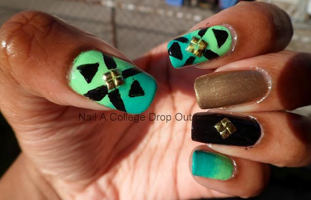 supa nails colorful gold - photo #7