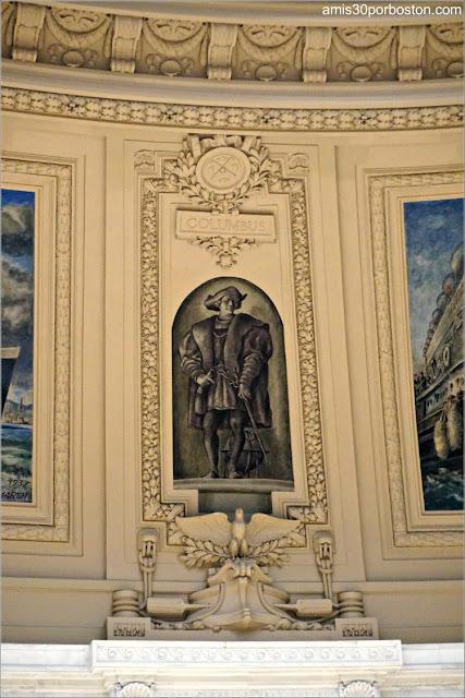 Murales de Reginald Marsh en el Interior del Museo Nacional de los Indios Americanos de Nueva York