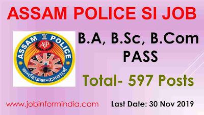 Assam Police SI Recruitment 2019