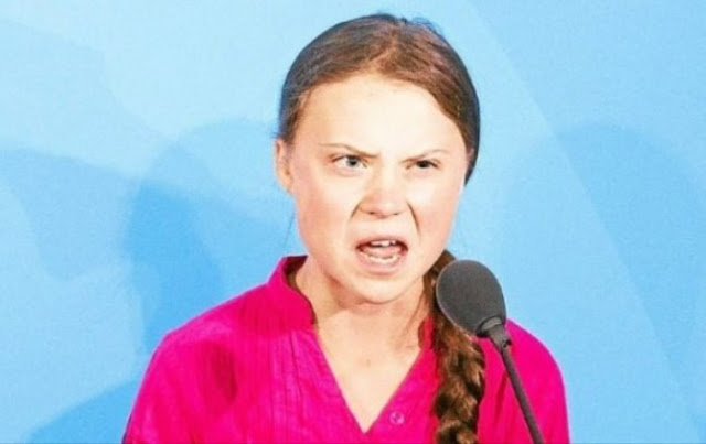 Greta - biedna chora dziewczyna, wykorzystywana cynicznie przez totalitarną lewiznę