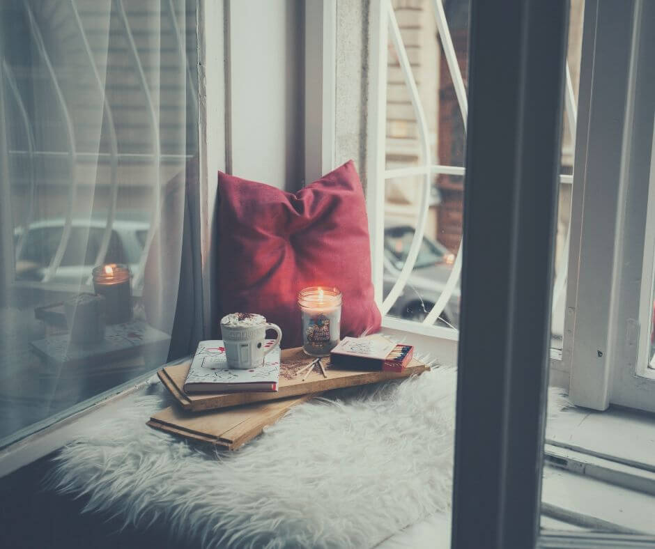 Tips On Creating A Self-Care Space At Home | Find a little space and add your favourite colour.