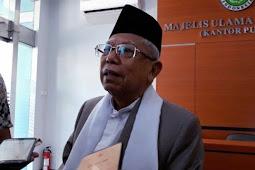 Ma'ruf Amin Mengaku TakTerlibat Dalam Pemilihan Menteri Kabinet