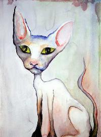 Lily White, pintura de Marilyn Manson.