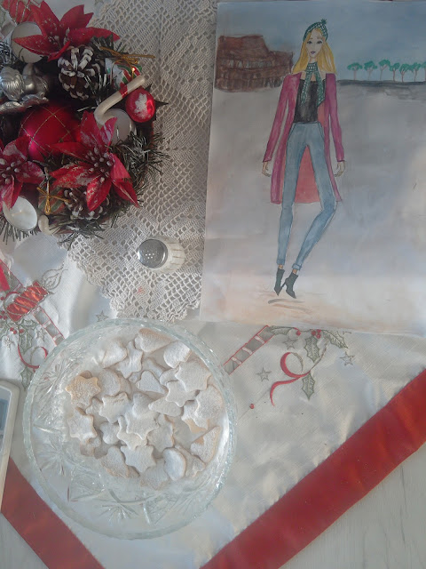 fashion illustration christmas #winter #zima