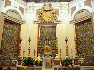 The chapel in the Basilica di Santa Maria Annunziata in Otranto, which contained the skulls of the victims