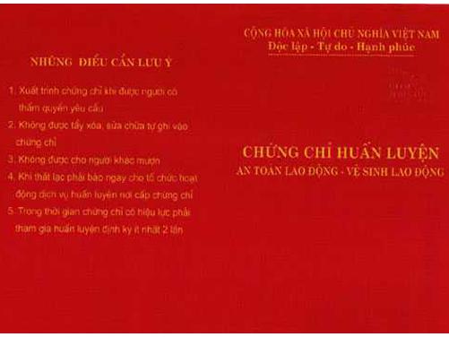Nhung dieu can luu y chung chi an toan lao dong