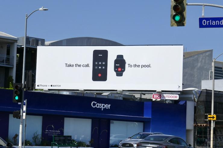 Take call pool Apple iPhone Watch billboard