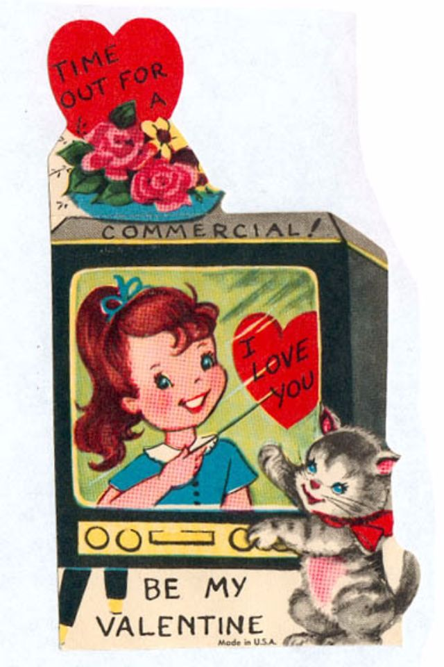 Pussy Galore: A Collection Of 28 Cute And Funny Vintage Kitty Cat Valentineu0027s  Day Cards ~ Vintage Everyday