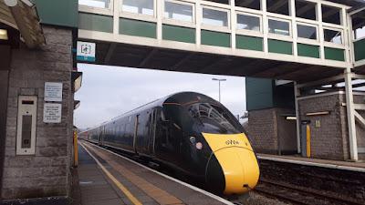 Bridgend station Class 800 train