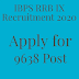 IBPS RRB IX Recruitment 2020 Apply for 9638 Post