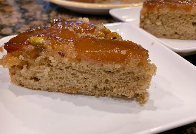 Spiced Peach Upside Down Cake