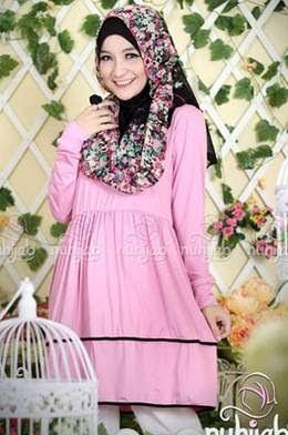 Contoh Hijab Lebaran Cantik Untuk Wajah Bulat