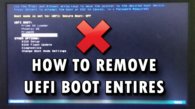 How To Remove UEFI Boot Entries   Clean Dual OS Entries   Easy Working Method