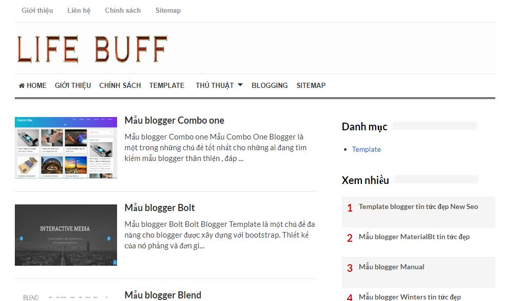 Giới thiệu trang blogspot lifebuff