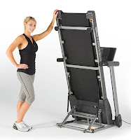 Folds up vertical, 3G Cardio 80i Treadmill, image