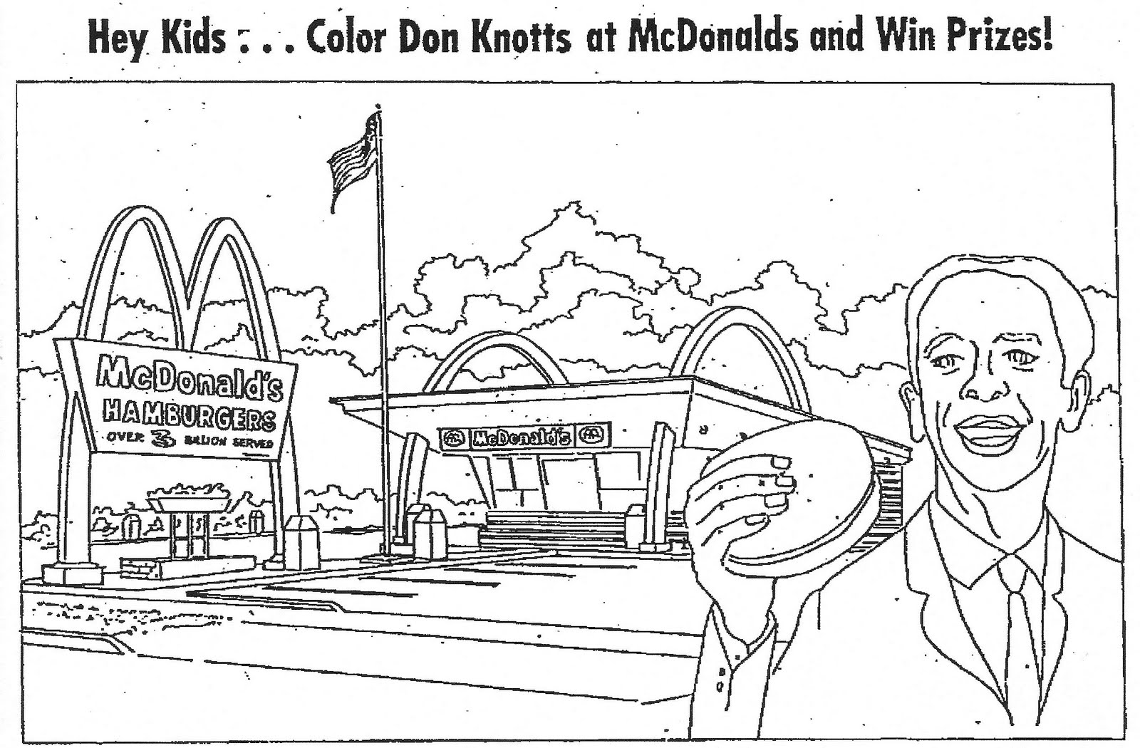 It is a photo of Comprehensive mcdonalds coloring pages