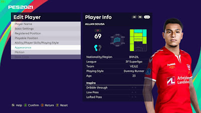 PES 2021 Faces Allan Sousa by Ostemads98