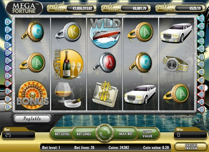 Ulasan Game Slot Mega Fortune