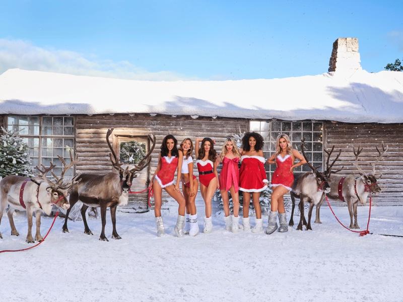 Maura Higgins joins Jocelyn Chew, Rachel Ward, Anna Fritzdorf and Karyta Santos for Ann Summers Christmas 2019 campaign