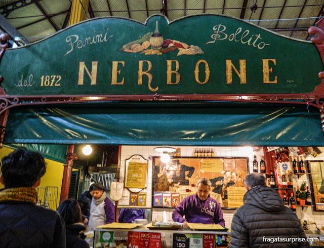 Restaurante em Florença: Nerbone, no Mercado Central