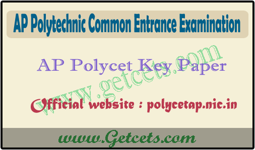 AP Polycet key 2021 pdf download & Question paper with Answer key