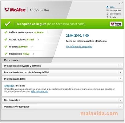 Mcafee security antivirus free download