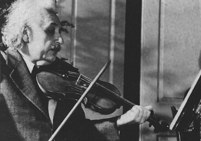 albert einstein violin player