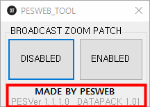 PES 2019 Broadcast Camera ZOOM Disabler  ver. 1.1.1.0 / Datapack 1.01